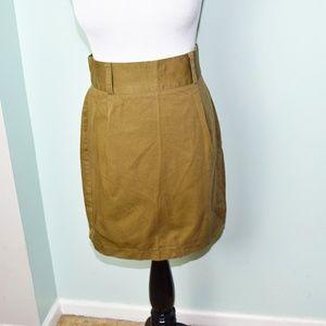 Super Cute Chartreuse Colored Mini Skirt